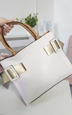 View the Paris Two Tone Belt Handbag online at iKrush