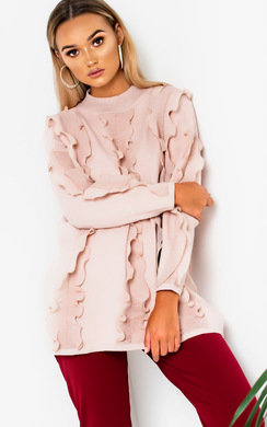 View the Paula Oversized Frill Jumper Dress online at iKrush