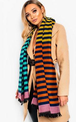 View the Paula Soft Stripe Print Scarf online at iKrush