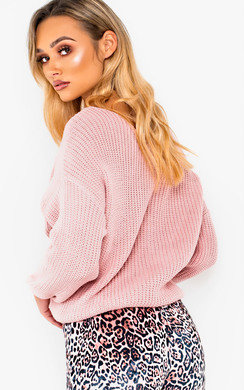 View the Penelope Knitted Crossover Jumper online at iKrush