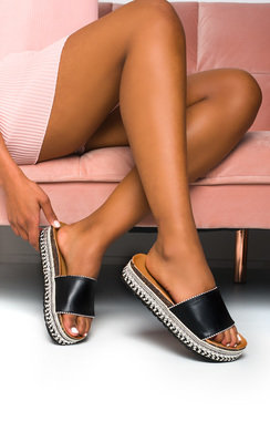 View the Penelope Studded Woven Sandals  online at iKrush