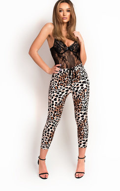 View the Penni Leopard Print  Joggers online at iKrush