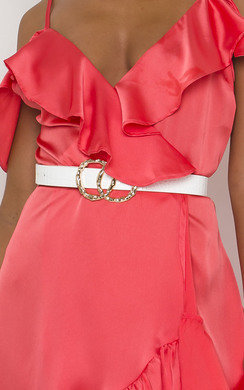 View the Pennie Double Circle Buckle Belt online at iKrush