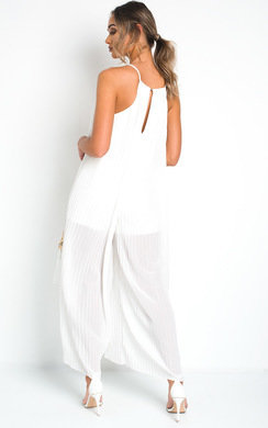 View the Penny Pleated Wide Leg  Jumpsuit online at iKrush