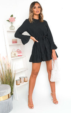 View the Penny Polka Dot Tie Dress online at iKrush