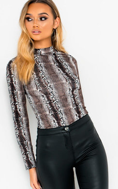 View the Pepe Animal Print Long Sleeve Bodysuit online at iKrush