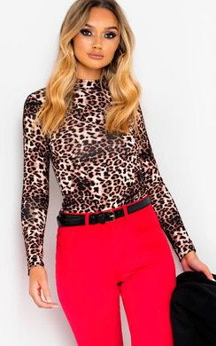 View the Pepe Animal Print Long Sleeve Bodysuit online at iKrush