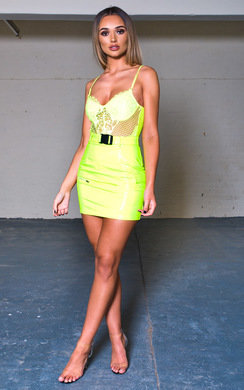 View the Perry PU Belted Mini Skirt  online at iKrush