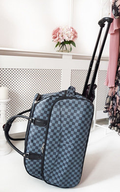 View the Petra Checked Travel Trolley Bag online at iKrush