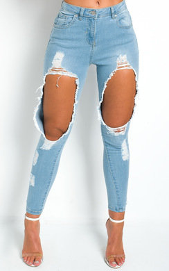 View the Petra Ripped Skinny Jeans online at iKrush