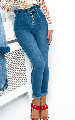 View the Petra Tie Waist Mom Jeans online at iKrush