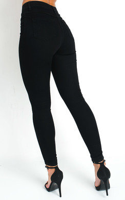 View the Pippa High Waisted Skinny Jeans online at iKrush