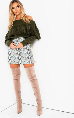 View the Pippin Faux Leather Skirt  online at iKrush