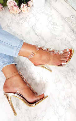 View the Polly Embellished Perspex Heels online at iKrush
