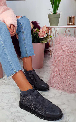 View the Portia Embellished Boot Trainer  online at iKrush