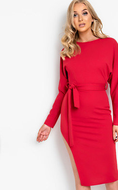View the Pria Tie Waist Midi Dress  online at iKrush