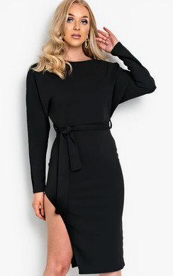75433f9b15 View the Pria Tie Waist Midi Dress online at iKrush