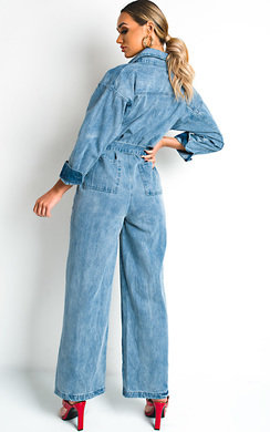 View the Quinn Denim Jumpsuit online at iKrush