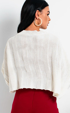 View the Rach Cropped Stripe Knit Jumper online at iKrush