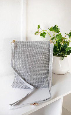 View the Rach Diamante Cross Body Slip Bag online at iKrush