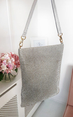 View the Rach Diamante Cross Body Slip Bag online at iKrush