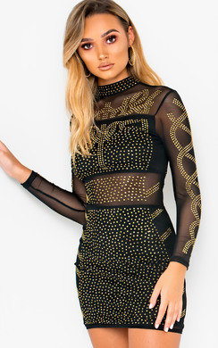 View the Raina Embellished Bodycon Dress online at iKrush