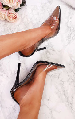 View the Raina Patent Perspex Court Heels online at iKrush