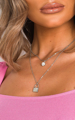 View the Raine Padlock and Jewel Necklace  online at iKrush