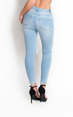 View the Raine Skinny Studded Distressed Jeans online at iKrush