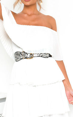 View the Raine Snake Print Belt online at iKrush