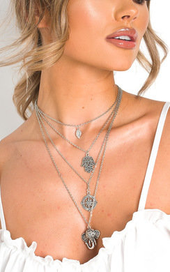 View the Razz Layered Charm Necklace  online at iKrush