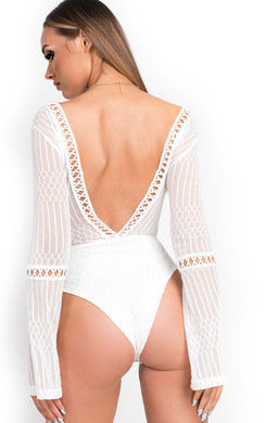 View the Razzi Crochet Lace Backless Bodysuit  online at iKrush