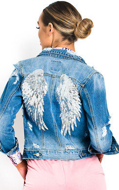 View the Reegan Embellished Denim Jacket online at iKrush