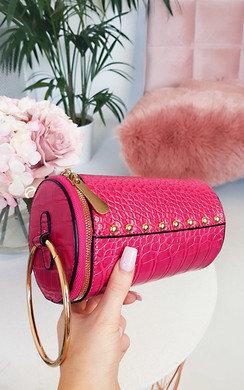 View the Ren Cylinder Croc Print Clutch Bag online at iKrush