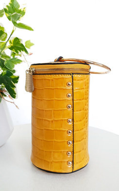 View the Ren Cylinder Croc Print Clutch Bag online at iKrush