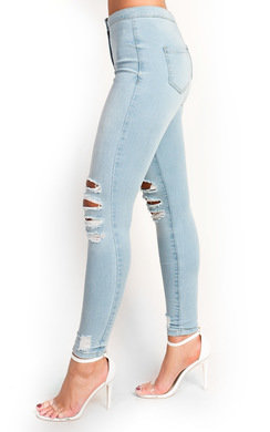 View the Reyana Slim Fit Distressed Jeans  online at iKrush