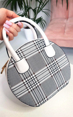 View the Rhanee Check Circle Handbag online at iKrush