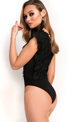 View the Rheese Crochet Lace Bodysuit  online at iKrush