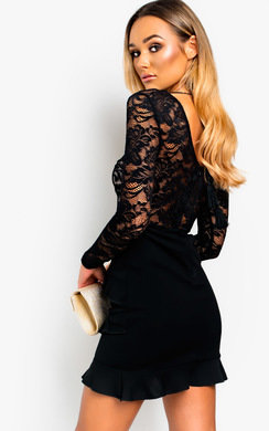 View the Ria Lace Bodycon Mini Dress online at iKrush