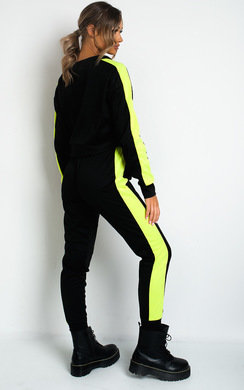 View the Riley Neon Striped Lounge Co-ord online at iKrush