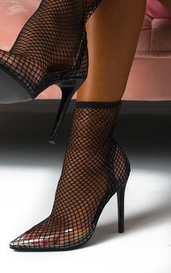 View the Riri Fishnet Perspex Court Heels online at iKrush