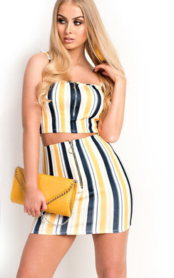 View the Rita Stripe Zip Co-ord online at iKrush