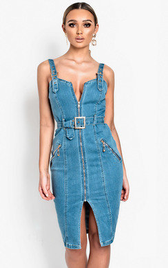 View the Robbie Denim Boydcon Midi Dress online at iKrush