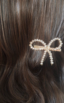 View the Robyn Bow Detail Hair Clip Gold online at iKrush