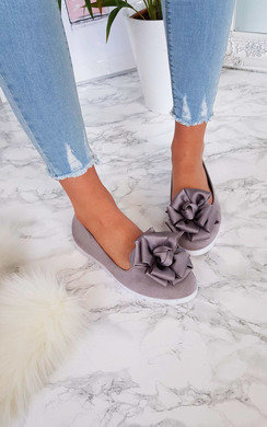 View the Robyn Floral Bow Flat Sandal online at iKrush