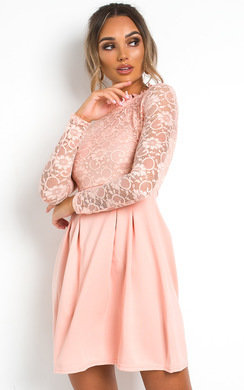 View the Robyn Lace Skater Dress online at iKrush