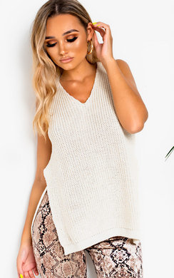 View the Rochelle Side Split Knitted Top online at iKrush