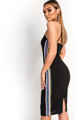View the Romi Striped Bodycon Midi Dress online at iKrush
