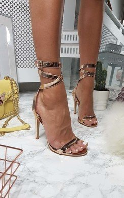 View the Rosa Wrap Strap Diamante Patent Heels   online at iKrush