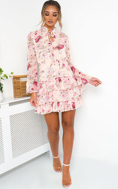 View the Rosie Floral Frill Hem Dress online at iKrush